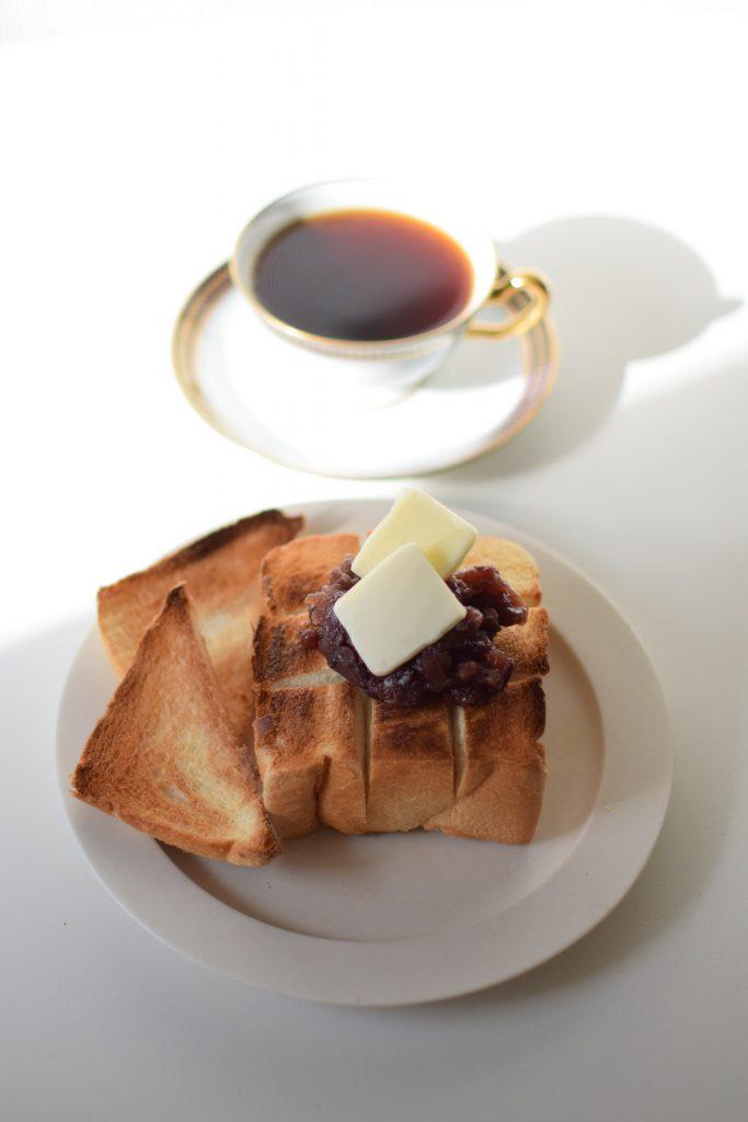 中板橋『1ROOM COFFEE』のあんバタートースト風アレンジ