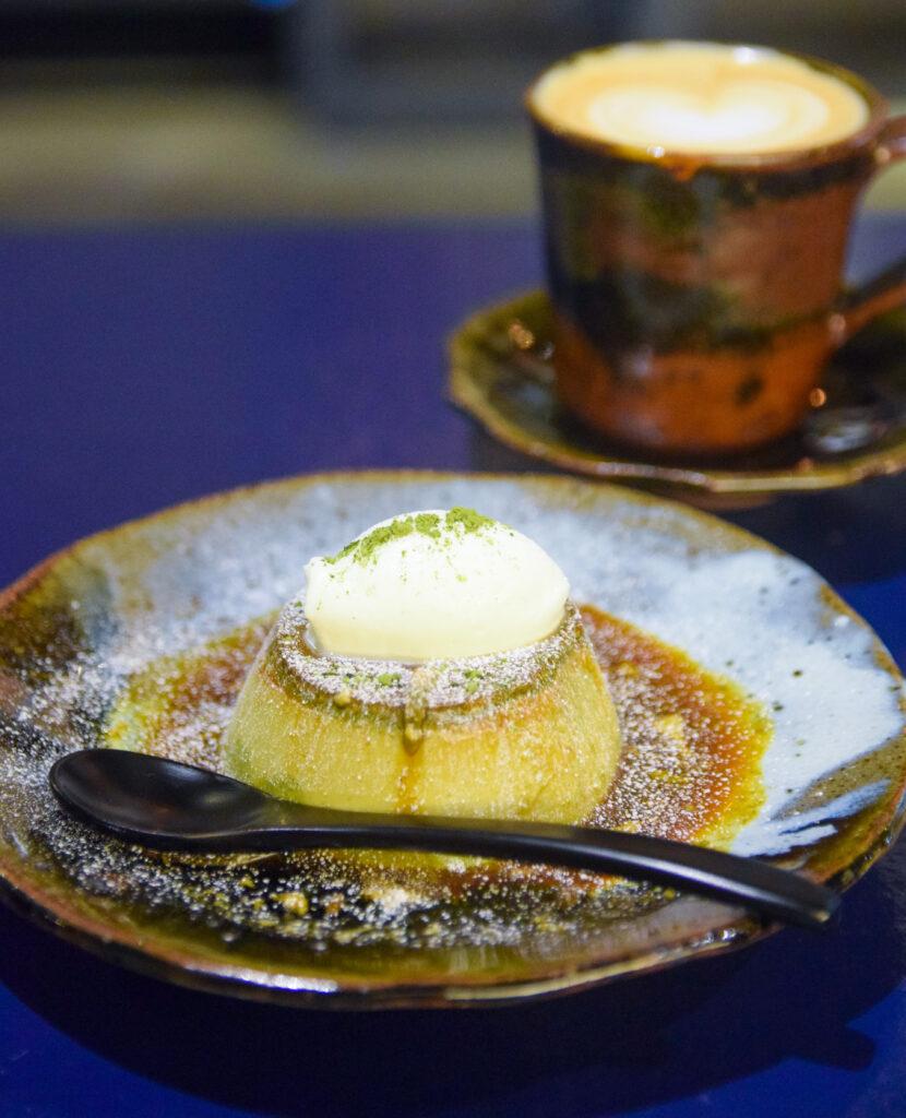 東日本橋『BONTIN CAFE ボンタンカフェ』の抹茶プリン 東京カフェ